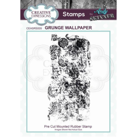 Andy Skinner Rubber Stamp - Grunge Wallpaper - CEASRS005