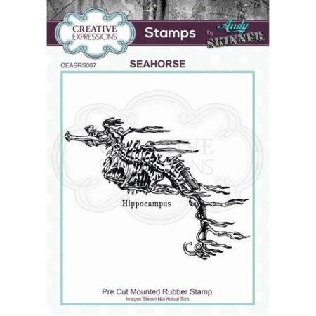 Andy Skinner Rubber Stamp - Seahorse - CEASRS007