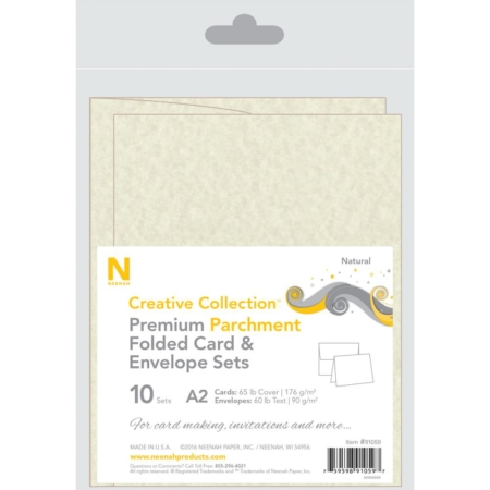 Neenah A2 Heavy Weight Cards/Envelopes 10 stk Natural