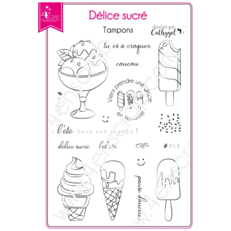 4enscrap Stamp - Ice Cream Dessert Summer - Set 183