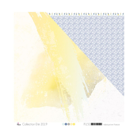4ENSCRAP Paper - Yellow & Gray Watercolor - PI150