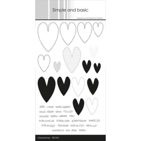Simple and Basic Stempel - Hearts Sketch - SBC041