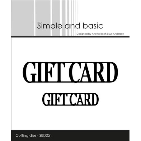 Simple and Basic Dies - Giftcard - SBD051