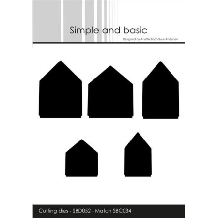 Simple and Basic Dies - Houses - SBD052