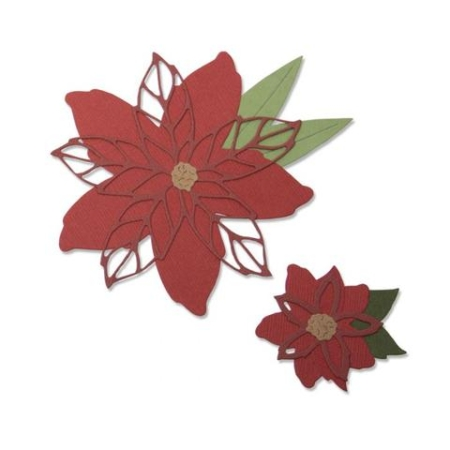 Sizzix Thinlits - Poinsettia - 663464