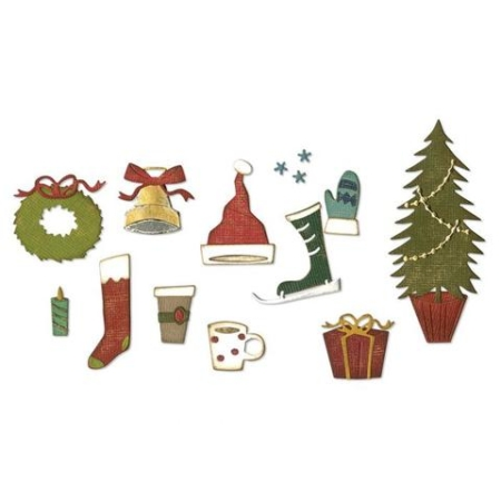 Sizzix Thinlits Tim Holtz - Festive Things - 664191