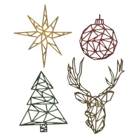 Sizzix Thinlits Tim Holtz - Geo Christmas - 664202