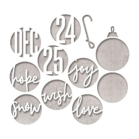 Sizzix Thinlits Tim Holtz – Circle Words, Christmas – 664205