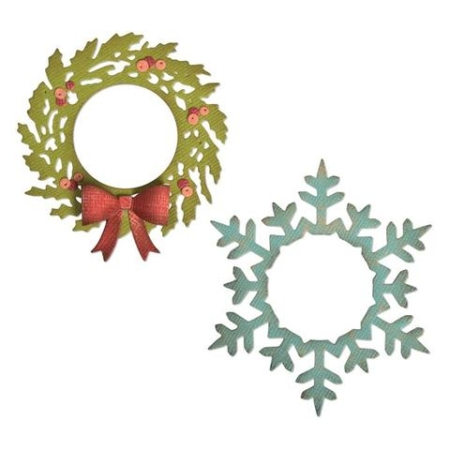 Sizzix Thinlits Tim Holtz - Wreath & Snowflake - 664210