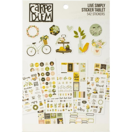 Simple Stories Carpe Diem A5 Tablets Stickers Live Simply 10759