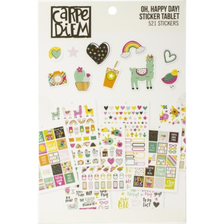 Simple Stories Carpe Diem A5 Tabel Stickers Oh Happy Day! 10760