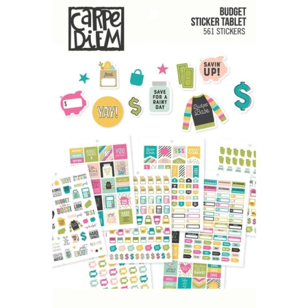 Simple Stories Carpe Diem A5 Tabel Stickers Budget 10769