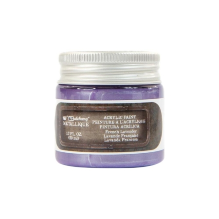 Prima Finnabair Metallique Acrylic Paint - French Lavender - 967796