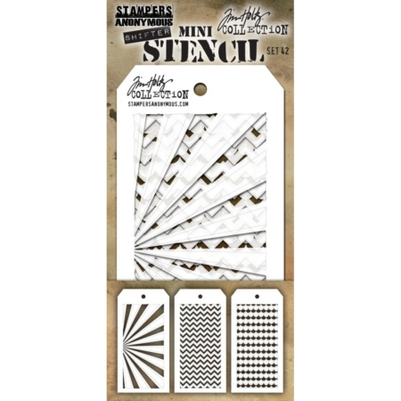 Tim Holtz - Layering stencil - Mini Set 42 - MST042