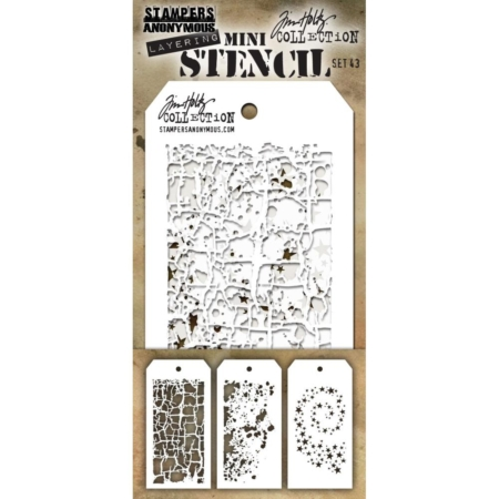 Tim Holtz - Layering stencil - Mini Set 43 - MST043