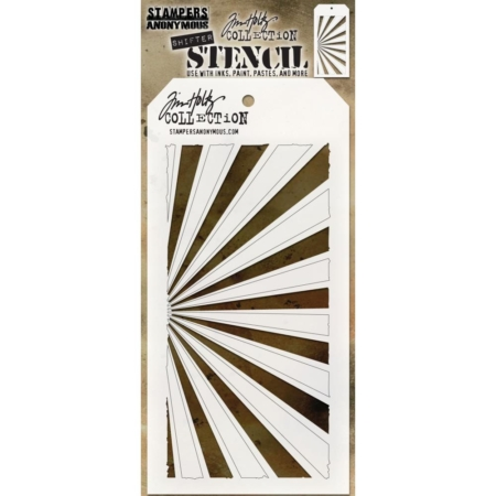 Tim Holtz - Layered Stencil - Shifter Rays - THS126