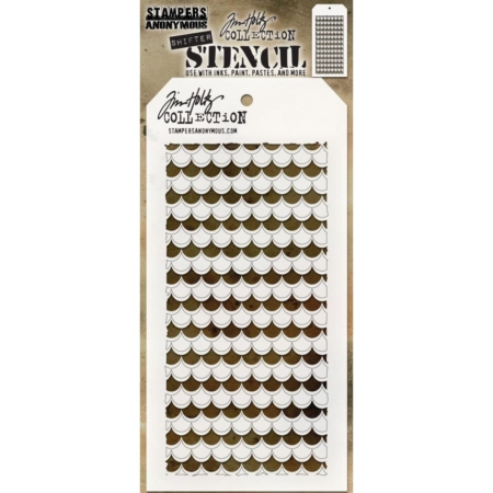 Tim Holtz - Layered Stencil - Shifter Scallop - THS128