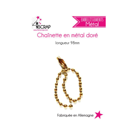4enscrap - Gold metal chain