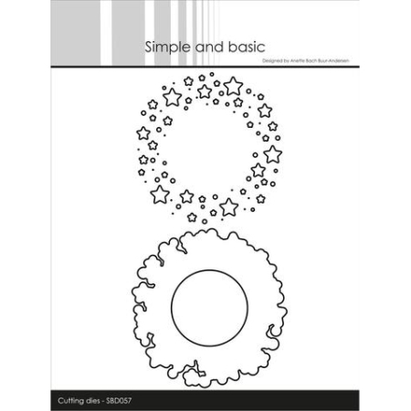 Simple and Basic Dies – Patterned Frames – Stars – SBD057