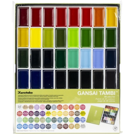 Kuretake Gansai Tambi 48 Color Set - MC2048V