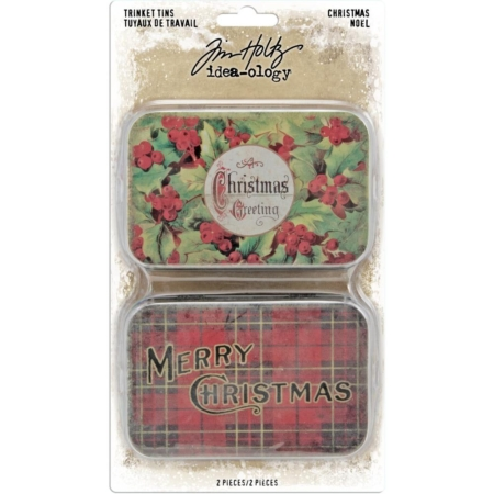 Tim Holtz - Idea Ology Christmas 2019 - Metal Trinket Tins