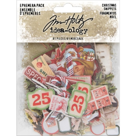 Tim Holtz Idea Ology - Snippets Tiny Die-Cuts Christmas - TH94009