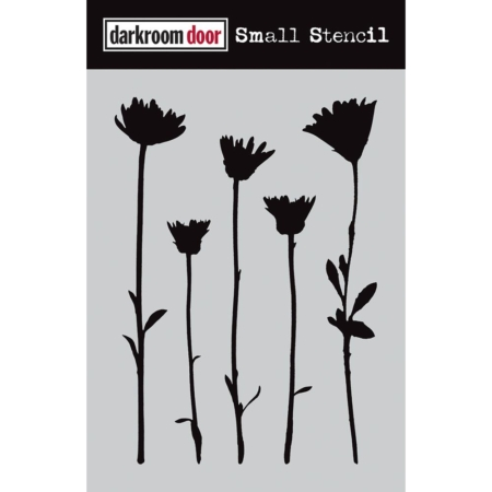 "Darkroom Door Stencil 4.5""X6"" - Wildflowers - DDSS004"