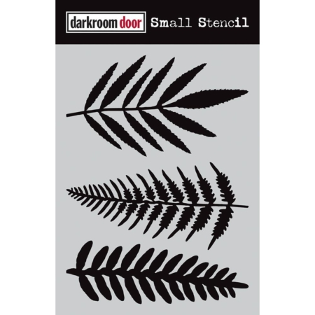 "Darkroom Door Stencil 4.5""X6"" - Ferns - DDSS005"