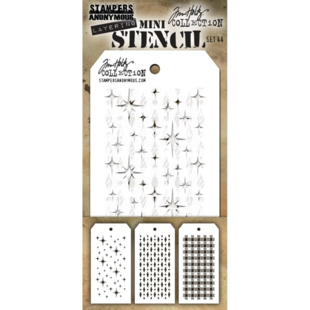 Tim Holtz - Layering stencil - Mini Set 44 - MST044
