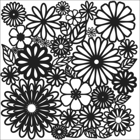 Crafter's Workshop Template - Flower Frenzy - TCW157s