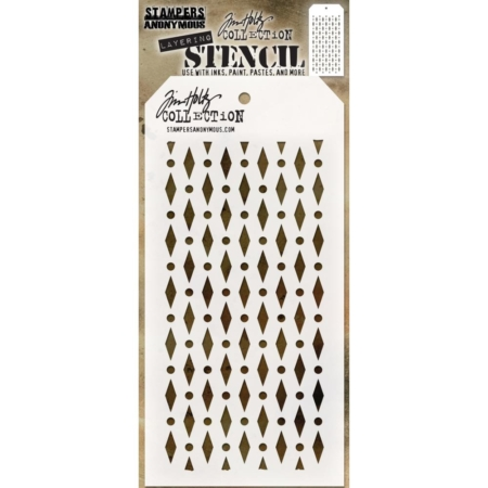 Tim Holtz - Layered Stencil - Diamond Dots - THS133