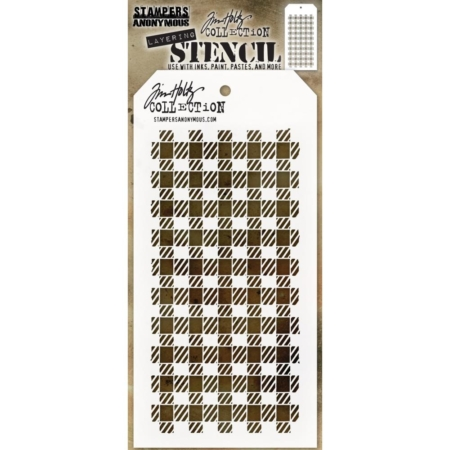 Tim Holtz - Layered Stencil - Gingham - THS134