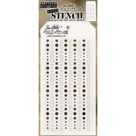 Tim Holtz - Layered Stencil - Shifter Baubles - THS136