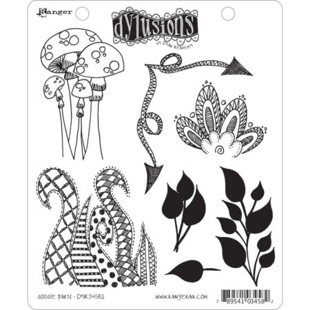 Dyan Reaveley's Dylusions Cling Stamp - Doodle Parts
