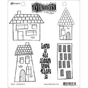 Dyan Reaveley's Dylusions Cling Stamp - Home