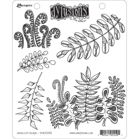 Dyan Reaveley's Dylusions Cling Stamp - Oodles Of Foliage