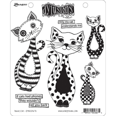 Dyan Reaveley's Dylusions Cling Stamp - Puddy Cat