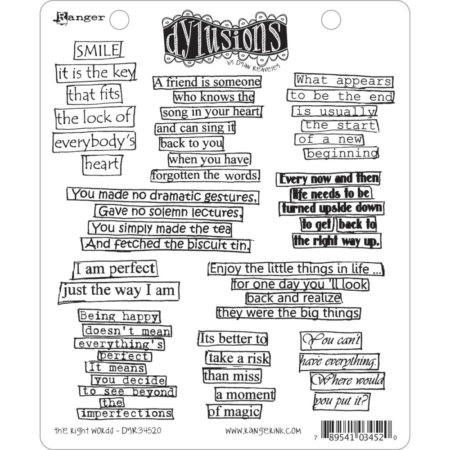 Dyan Reaveley's Dylusions Cling Stamp - The Right Words