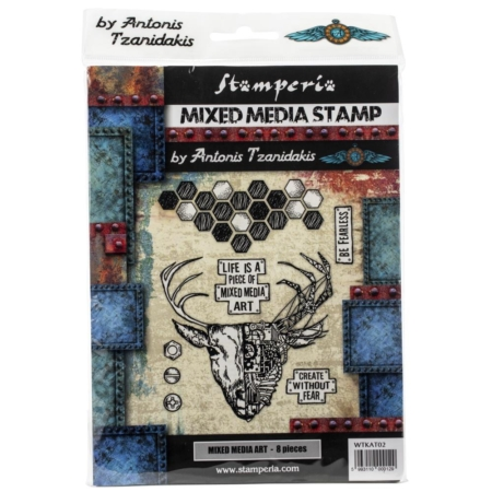 Stamperia Cling Stamp - Mixed Media Art - WTKAT02