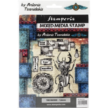 Stamperia Cling Stamp - Time Machine - WTKAT01