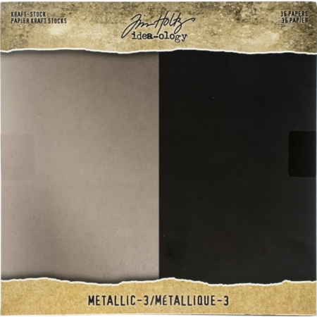 Tim Holtz - Idea-Ology Paper Stash Kraft Metallic Paper - TH94021