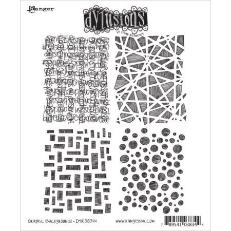 Dyan Reaveley's Dylusions Cling Stamp - Graphic Backgrounds