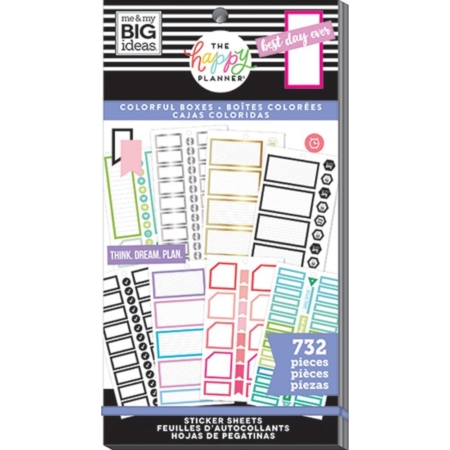 Happy Planner Sticker - Monthly Colorful Boxes - PPSV-167