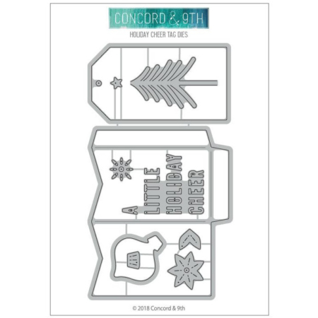 Concord & 9th Dies - Holiday Cheer Tags - 10472