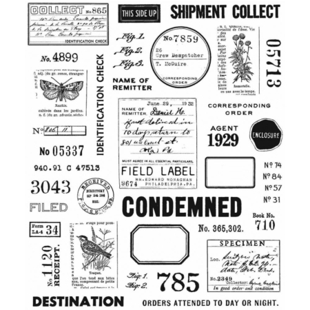 Tim Holtz Cling Stamps set - Field Notes - CMS396