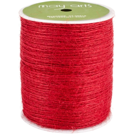 May Arts Burlap String 1 mm X 400 yd - Red