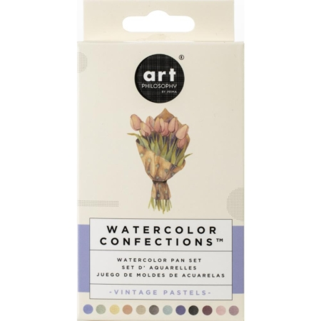 Prima Art Philosophy Confections Watercolor Pans Vintage Pastel