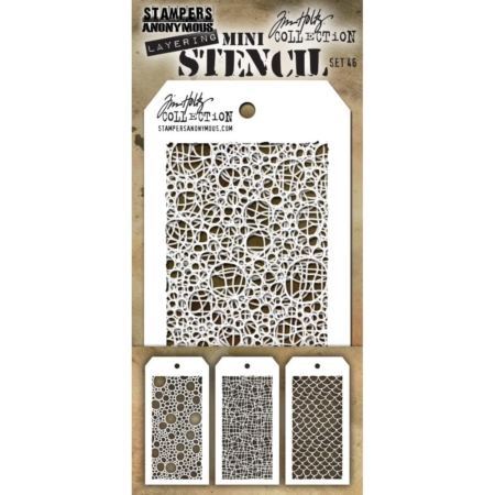 Tim Holtz - Layering stencil - Mini Set 46 - MST046