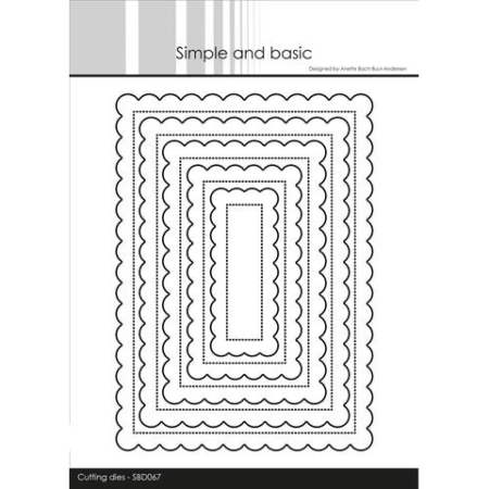 Simple and Basic Dies - Pierced Scalloped Rectangles - SBD067
