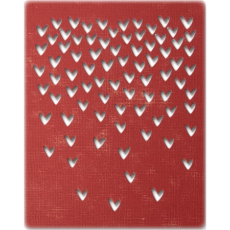 Sizzix Thinlits - Tim Holtz - Falling Hearts - 664415